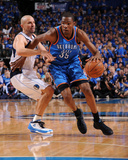 Oklahoma City Thunder v Dallas Mavericks - Game Two, Dallas, TX - MAY 19: Kevin Durant, Jason Kidd Photographic Print by Andrew Bernstein