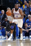 Dallas Mavericks v Oklahoma City Thunder - Game Four, Oklahoma City, OK - MAY 23: James Harden Photographic Print by Layne Murdoch