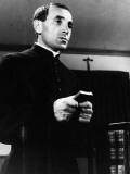 """Charles Aznavour (episode """"Homicide point ne seras""""): Le Diable et Les Dix Commandements, 1962 Fotografie-Druck von  Limot"""