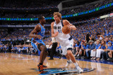 Oklahoma City Thunder v Dallas Mavericks - Game Two, Dallas, TX - MAY 19: Dirk Nowitzki and Serge I Photographic Print by Andrew Bernstein