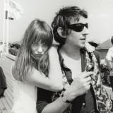 Serge Gainsbourg og Jane Birkin, 23. juli 1970 Fotografisk tryk af Luc Fournol