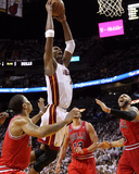 Chicago Bulls v Miami Heat - Game Three, Miami, FL - MAY 22: Chris Bosh Photographic Print by Mike Ehrmann