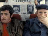 Jean-Paul Belmondo et Bourvil : Le Cerveau, 1969 Reproduction photographique par Marcel Dole
