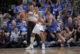 Oklahoma City Thunder v Dallas Mavericks - Game Two, Dallas, TX - MAY 19: Shawn Marion and Russell  Photographic Print by Glenn James