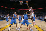 Dallas Mavericks v Oklahoma City Thunder - Game Three, Oklahoma City, OK - MAY 21: Serge Ibaka, Tys Photographic Print by Joe Murphy