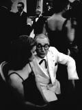 Marcel Achard and Jeanne Moreau, 1958 Fotografisk trykk av Luc Fournol
