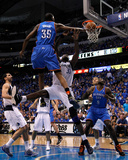 Oklahoma City Thunder v Dallas Mavericks - Game Two, Dallas, TX - MAY 19: Kevin Durant and Brendan  Photographic Print by Tom Pennington