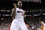 Chicago Bulls v Miami Heat - Game Four, Miami, FL - MAY 24: LeBron James Photographic Print by Mike Ehrmann