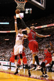 Chicago Bulls v Miami Heat - Game Four, Miami, FL - MAY 24: Mike Miller and Carlos Boozer Photographic Print by Mike Ehrmann
