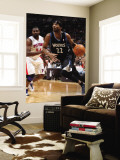 Detroit Pistons v Minnesota Timberwolves: Corey Brewer and Jason Maxiell Wall Mural by David Sherman