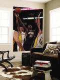Indiana Pacers v Los Angeles Lakers: Pau Gasol, Roy Hibbert and Matt Barnes Wall Mural by Jeff Gross