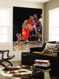 2011 NBA All Star Game, Los Angeles, CA - February 20: Kobe Bryant and LeBron James Wall Mural by Noah Graham