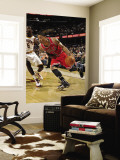 Chicago Bulls v Cleveland Cavaliers: Derrick Rose and Manny Harris Wall Mural by David Liam Kyle
