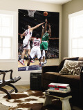 Boston Celtics v Atlanta Hawks: Marquis Daniels and Zaza Pachulia Wall Mural by Scott Cunningham