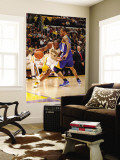 Golden State Warriors v Los Angeles Lakers: Kobe Bryant and Monta Ellis Wall Mural by Noah Graham
