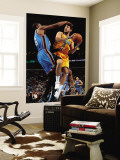 Oklahoma City Thunder v New Orleans Hornets: Marco Belinelli and Kevin Durant Wall Mural by Chris Unknown