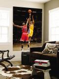 Chicago Bulls v Los Angeles Lakers: Kobe Bryant and Keith Bogans Wall Mural by Noah Graham