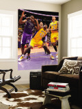 Sacramento Kings v Los Angeles Lakers: Derrick Caracter and Carl Landry Wall Mural by Andrew Bernstein