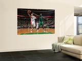 Toronto Raptors v Boston Celtics: Jerryd Bayless and Kevin Garnett Wall Mural by Brian Babineau