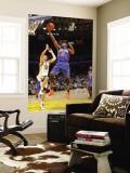 New York Knicks v Golden State Warriors: Raymond Felton and Vladimir Radmanovic Wall Mural by Rocky Widner