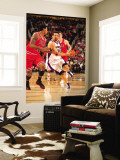 Chicago Bulls v Phoenix Suns: Hedo Turkoglu and James Johnson Wall Mural by Barry Gossage