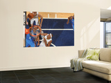 Oklahoma City Thunder v Indiana Pacers: Russell Westbrook, Mike Dunleavy and James Posey Vægplakat af Ron Hoskins