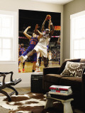 New York Knicks v Charlotte Bobcats: Kwame Brown and Timofey Mozgov Wall Mural by Kent Smith