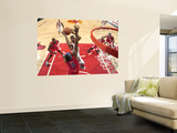 Los Angeles Clippers v Chicago Bulls: Derrick Rose, Baron Davis and DeAndre Jordan Wall Mural by Randy Belice