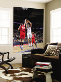 Philadelphia 76ers v New Jersey Nets: Brook Lopez and Spencer Hawes Wall Mural by  David