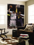 Denver Nuggets v Boston Celtics: Semih Erden and Al Harrington Reproduction murale géante par Elsa Unknown