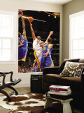 Golden State Warriors v Los Angeles Lakers: Kobe Bryant, Dorell Wright and Andris Biedrins Wall Mural by Noah Graham