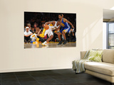 Golden State Warriors v Los Angeles Lakers: Kobe Bryant and Charlie Bell Wall Mural by Noah Graham