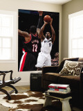 Portland Trail Blazers v Washington Wizards: Gilbert Arenas and LaMarcus Aldridge Wall Mural by Ned Dishman
