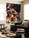 Miami Heat v Memphis Grizzlies: Carlos Arroyo and Greivis Vasquez Wall Mural by Joe Murphy