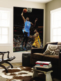 Oklahoma City Thunder v New Orleans Hornets: Kevin Durant and D.J. Mbenga Wall Mural by Chris Unknown