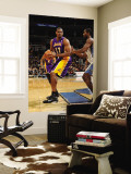 Los Angeles Lakers v Washington Wizards: Andrew Bynum and Hilton Armstrong Wall Mural by Andrew Bernstein