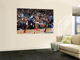 Indiana Pacers v Utah Jazz: Ronnie Price, Brandon Rush and Roy Hibbert Wall Mural by Melissa Majchrzak