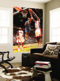 Washington Wizards v Miami Heat: Hilton Armstrong and Chris Bosh Wall Mural by Victor Baldizon