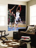 Milwaukee Bucks v Denver Nuggets: J.R. Smith, John Salmons and Ersan Ilyasova Wall Mural by Garrett Ellwood