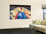 New Orleans Hornets v Philadelphia 76ers: Jrue Holliday and David West Wall Mural by David Dow