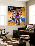 Los Angeles Lakers v Washington Wizards: Kobe Bryant, Nick Young and JaVale McGee Wall Mural by Ned Dishman