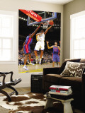 Detroit Pistons v Golden State Warriors: Tayshaun Prince, Ben Wallace and Reggie Williams Wall Mural by Rocky Widner