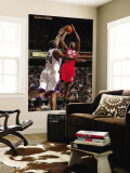 New Jersey Nets v Sacramento Kings: Travis Outlaw and Carl Landry Wall Mural by Don Smith