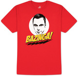 The Big Bang Theory - Bazinga! Camisetas