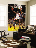 Charlotte Bobcats v Miami Heat: Dwyane Wade and Boris Diaw Wall Mural by Issac Baldizon