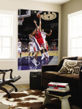Philadelphia 76ers v New Jersey Nets: Spencer Hawes, Stephen Graham and Derrick Favors Wall Mural by David Dow