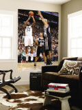 San Antonio Spurs v Utah Jazz: C.J. Miles and Tim Duncan Wall Mural by Melissa Majchrzak