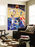 New Orleans Hornets v Philadelphia 76ers: Spencer Hawes and Jason Smith Wall Mural by David Dow