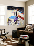 Phoenix Suns v Oklahoma City Thunder: Hakim Warrick, Nick Collison and Kevin Durant Wall Mural by Layne Murdoch