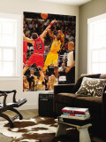 Chicago Bulls v Los Angeles Lakers: Kobe Bryant and Joakim Noah Wall Mural by Andrew Bernstein